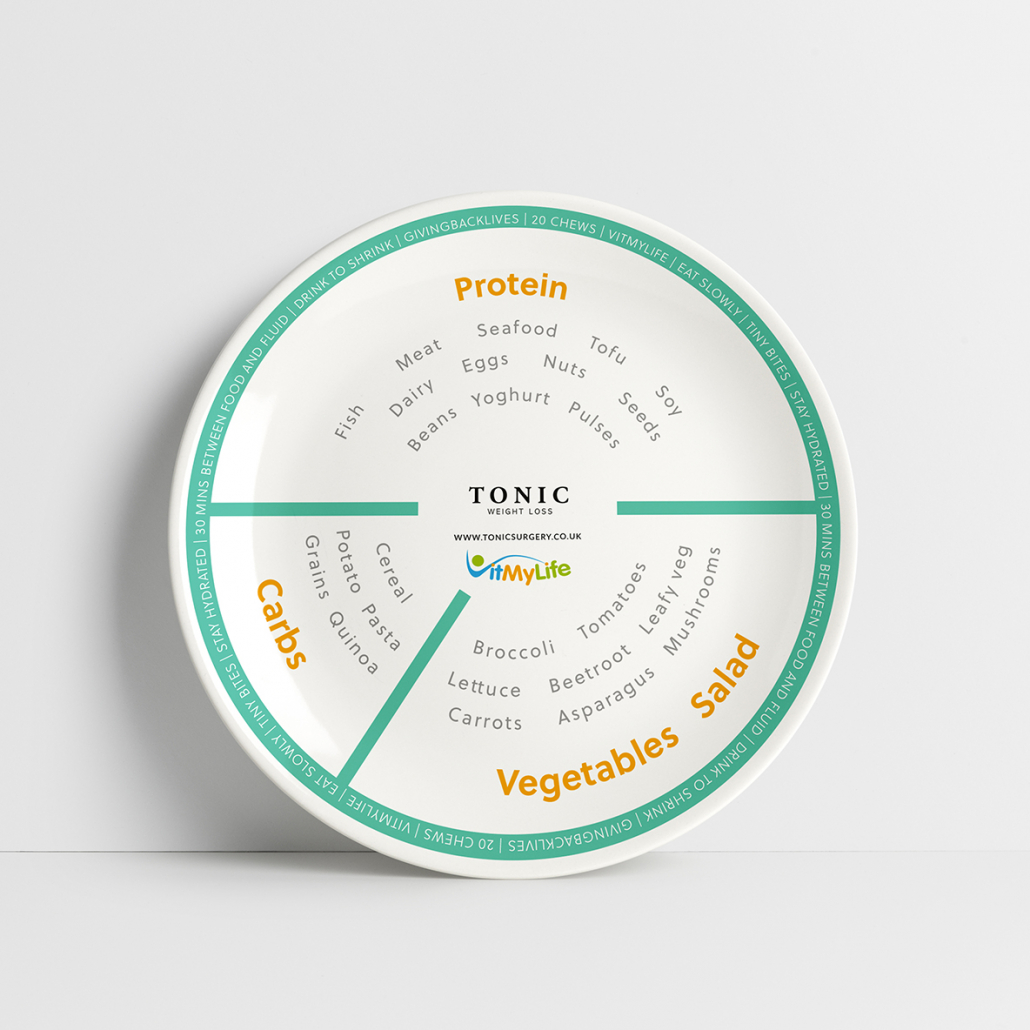 Tonic Portion Control Plate